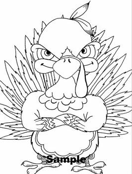 Mad Turkey Color Sheet by DaVinci\'s Workshop | Teachers Pay Teachers