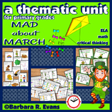MARCH: March Activities, March Math & Literacy Centers, Mo