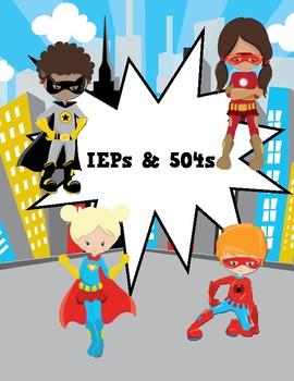 Super Hero Teacher Binder