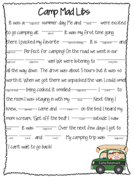 Mad libs- camping