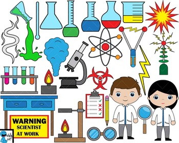 Crazy scientist Digital ClipArt Graphics Commercial Use 91