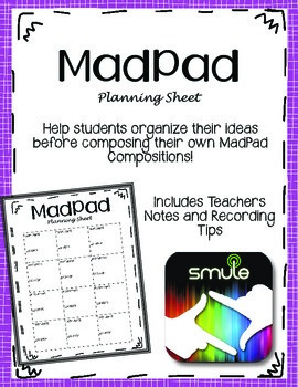 MadPad App {Smule} Planning Sheets
