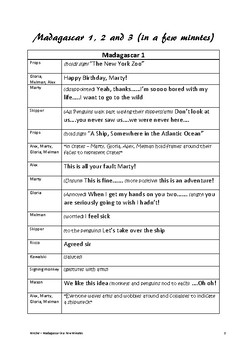 Madagascar 1, 2 and 3 (in a Few Minutes) - Play Script