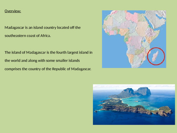 Madagascar Island - Power Point history facts info animals planets