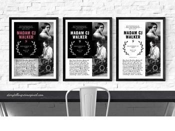 Madam CJ Walker • Famous Figures Print Set