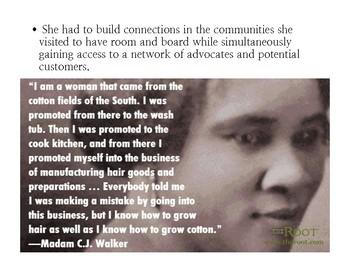 Madame CJ Walker Presentation