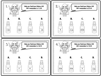 Madame Rue's Valentine Love Potion Shop: Fraction and Decimal Math Activities