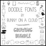 Doodle Fonts by Bunny On A Cloud (It's a Growing Bundle!)