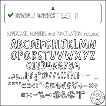 Doodle Books by Bunny On A Cloud (This is a doodle font!)