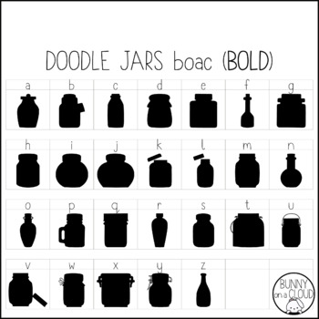 Doodle Jars by Bunny On A Cloud (This is a doodle font!)