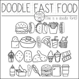 Doodle Fast Food by Bunny On A Cloud (This is a doodle font!)