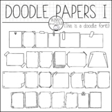 Doodle Papers I by Bunny On A Cloud (This is a doodle font!)
