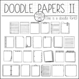 Doodle Papers II by Bunny On A Cloud (This is a doodle font!)