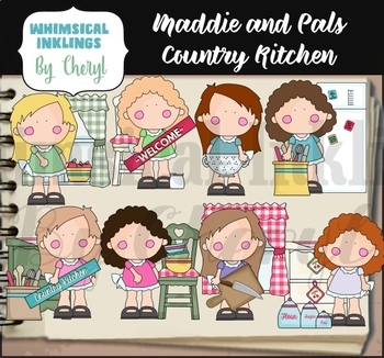 Maddie and Pals Country Kitchen Clipart Collection