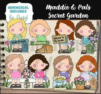 Maddie and Pals Secret Garden Clipart Collection