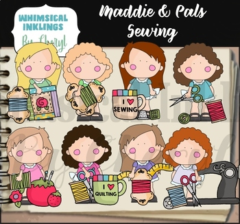 Maddie and Pals Sewing Clipart Collection