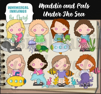 Maddie and Pals Under The Sea Clipart Collection