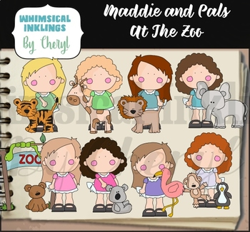 Maddie and Pals at The Zoo Clipart Collection