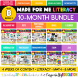 Made For Me Literacy -- 10 Month Bundle (Level B Bundle 2)