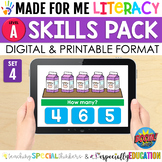 Made For Me Literacy Digital Skill Practice (Level A: Set