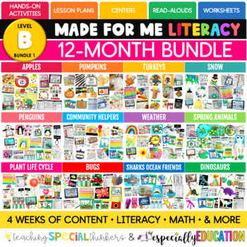 Made For Me Literacy (Year-Long Bundle)