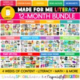 Made For Me Literacy --  Year-Long Bundle (Level B Bundle 1)