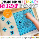 Made For Me Literacy : Sub Pack (There Was an Old Lady Who Swallowed a Fly)