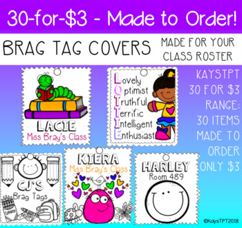 Made To Order Brag Tag Covers