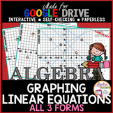 Graphing Linear Equations Laser Tag 3 Versions (Made for Google Drive)
