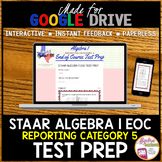 STAAR ALGEBRA 1 EOC Review Reporting Category 5 TEST PREP
