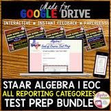 ALGEBRA 1 STAAR EOC Review TEST PREP BUNDLE (Made for Goog