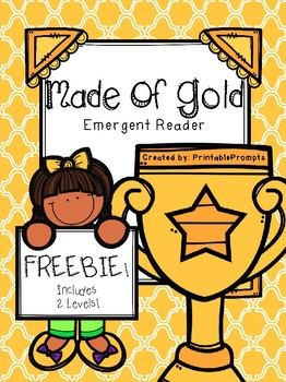 Made of Gold- Emergent Reader- {Freebie}