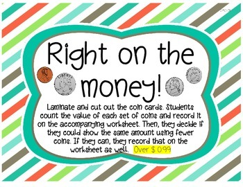 Made of Money: math centers/activities aligned to the CC