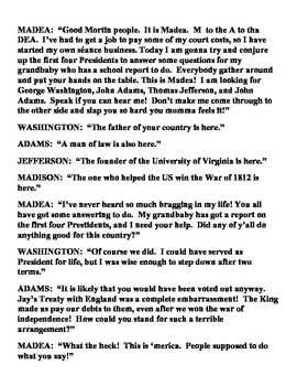Madea Interviews the US Presidents of the Young Republic