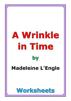 """Madeleine L'Engle """"A Wrinkle in Time"""" worksheets"""