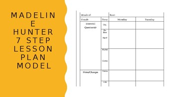 Superior Madeline Hunter Lesson Plan Template W/ Planner Helpers