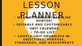 Madeline Hunter Lesson Plan Template w/ Planner Helpers