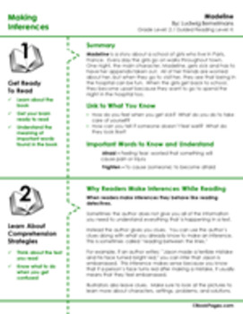 Madeline Lesson Plans & Activities Package, Second Grade (CCSS)