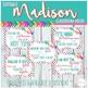 Madison Classroom Decor -- Bright Stripes, Chevron, and Polkadots