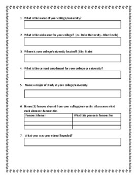 Madness in March College Basketball Vocabulary and Research Webquest Worksheet