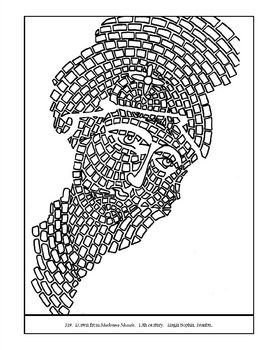 Madonna Mosaic.  13th c.  Coloring page and lesson plan ideas