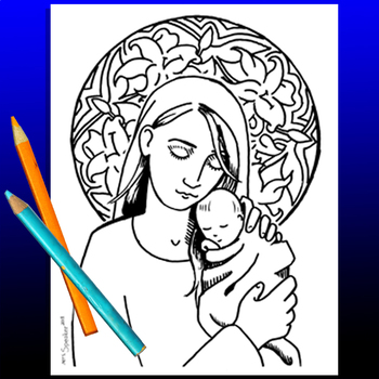 Madonna and Child Coloring Sheet