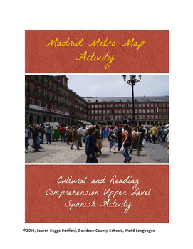 Madrid Spain Map Tourist.Madrid Spain Metro Map Activity By Spanish With A Southern Twang