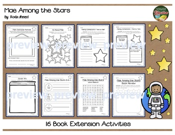 Mae Among the Stars by Ahmed Jemison Biography 16 Extension Activities NO PREP