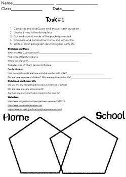 WebQuest Mae C. Jemison GREAT FOR END OF THE YEAR PROJECTS/ACTIVITIES