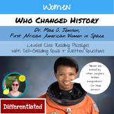 Mae Jamison: Leveled Close Reading Passages with Digital Quiz (Women's History)