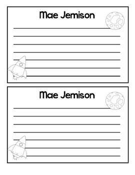 Mae Jamison Writing Craft (Women's History Month)