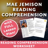 Mae Jemison - Astronaut & Pioneer - Teenage/adult ESL Reading w/ Lesson plan