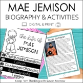 Mae Jemison Biography & Reading Response Activities | Digi