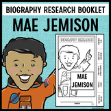 Mae Jemison Biography Research Booklet